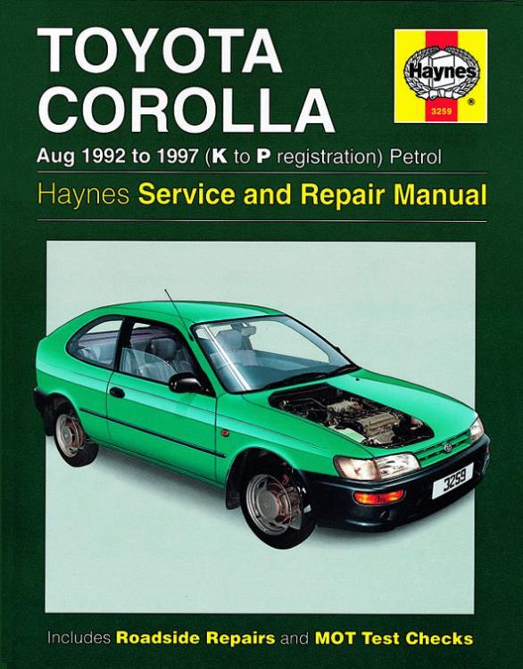 3259 haynes manual toyota corolla petrol aug 92 97 k to p rh eandmmotorfactors co uk toyota haynes manual pdf toyota corolla verso haynes manual pdf