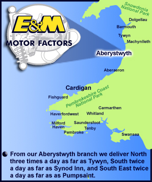 E and M Motor Factors Aberystwyth SY23 3JQ
