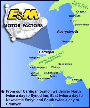 E and M Motor Factors Cardigan SA43 3AG